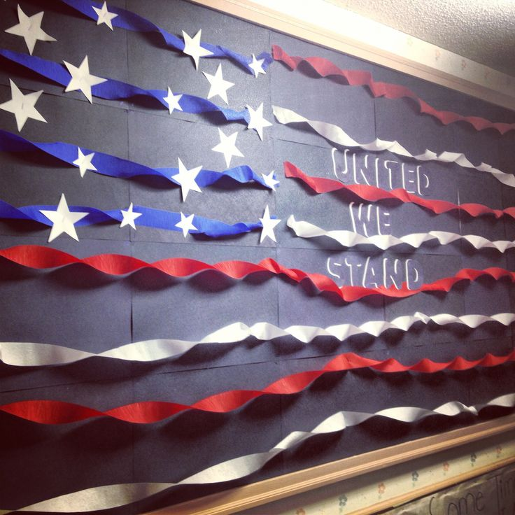 American flag bulletin board. Responsible (or other core virtue) we stand;)