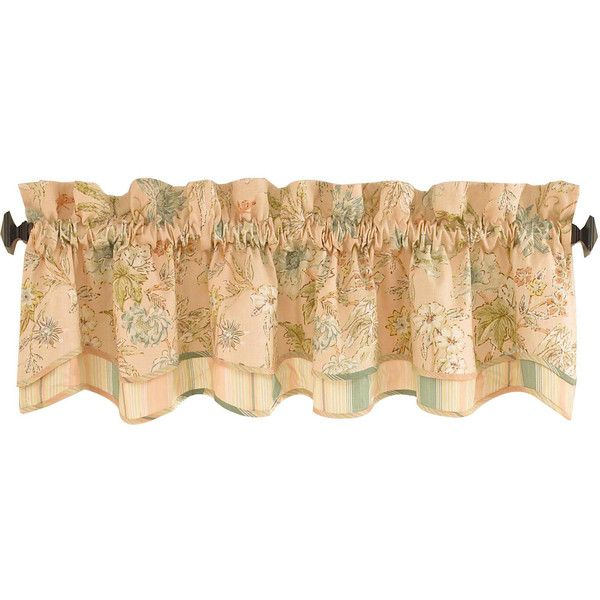 waverly cape coral valance u20ac38 liked on polyvore featuring home home valance window