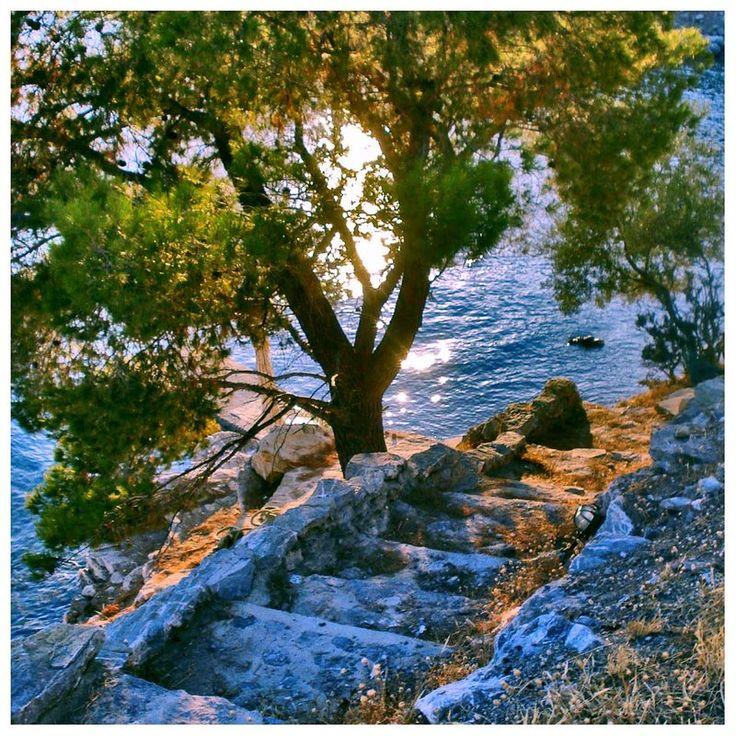 Steps to the sea ~ Poros