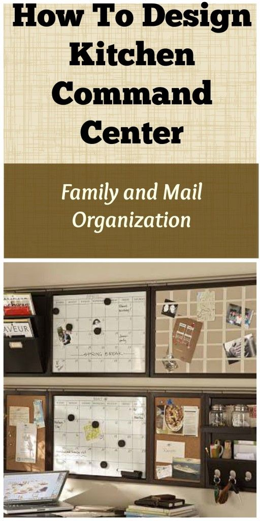 How To Design Kitchen Command Center Family and Mail ...