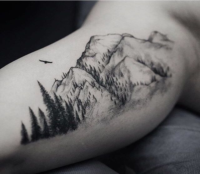 20 Black Nature Simple Tattoos For Men Ideas And Designs