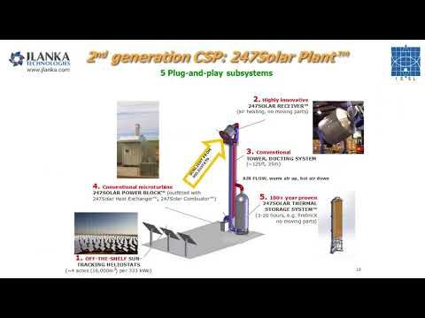A lower-cost, next-generation Concentrating Solar Power (CSP) systems - YouTube