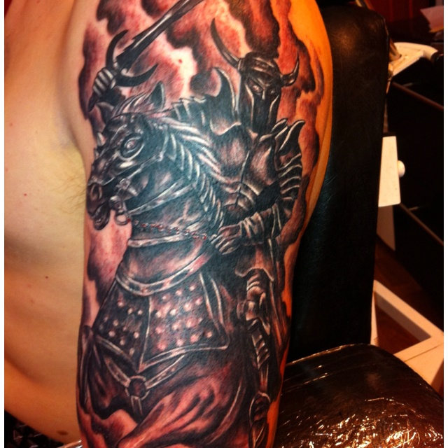 The 1st Horseman. Inked in Tino's Tattoo, Kuopio, Finland in April 2011.