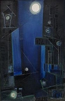 "Gösta Adrian-Nilsson a.k.a. GAN (Swedish, 1884-1965) - ""Blå hamn"" (Blue harbour)"
