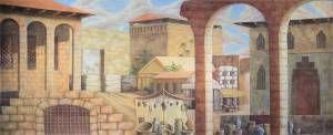 Arabian Marketplace Stage Backdrop