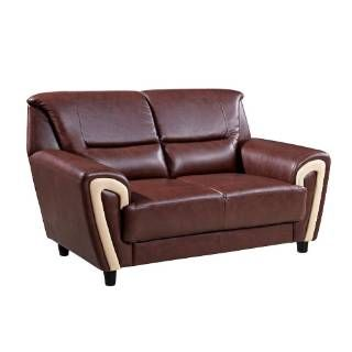 "Check out the Global Furniture U4180-U7-L  63"" Bonded Leather Loveseat in Brown / Cappuccino priced at $612.00 at Homeclick.com."
