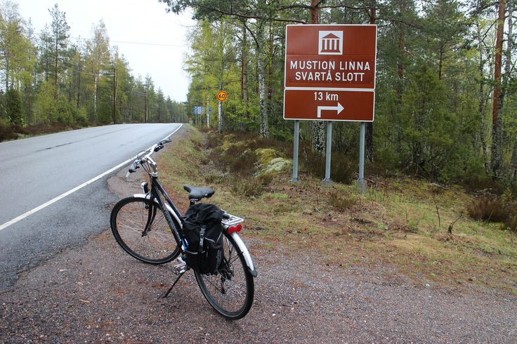 Getting to Mustion Linna Hotel on a bike!