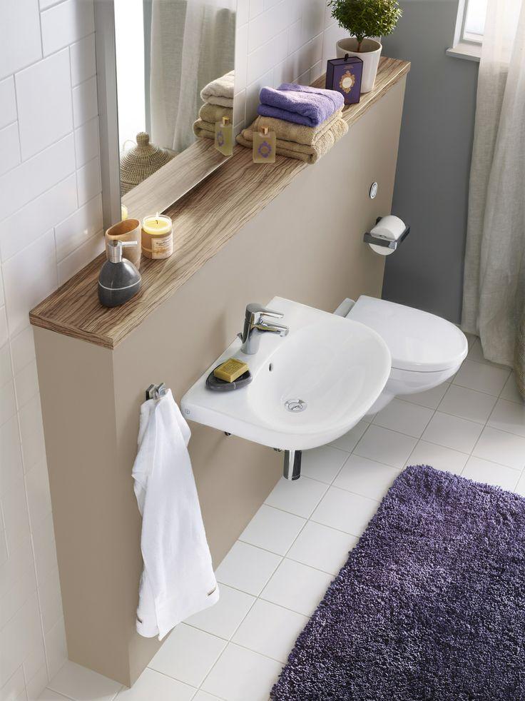 Tvättställ (> 50 cm bredd). ger en modern badrumskänsla samtidigt som den är enkel att städa. | GUSTAVSBERG
