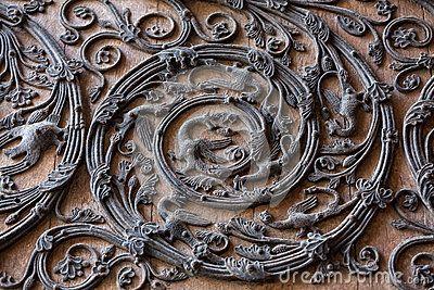 Деталь двери Нотр-Дам de Парижа