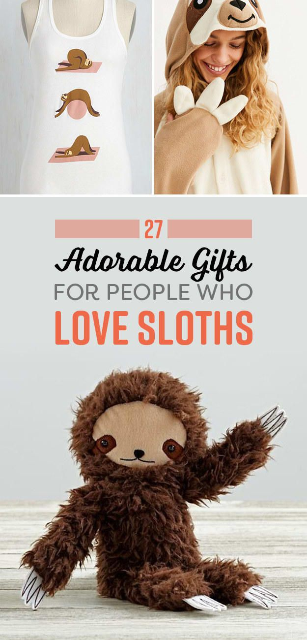 27 Adorable Gifts For People Who Love Sloths Sloth, Cute