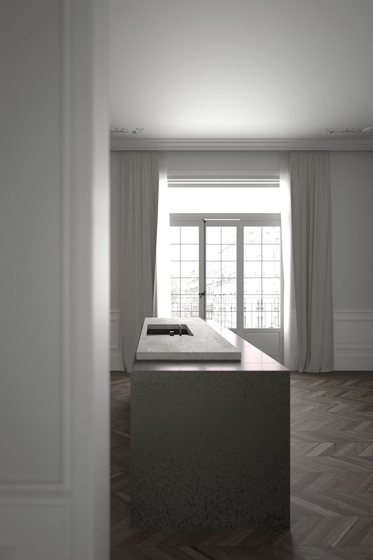 Kitchen - apartment in Paris by AD office interieurarchitect