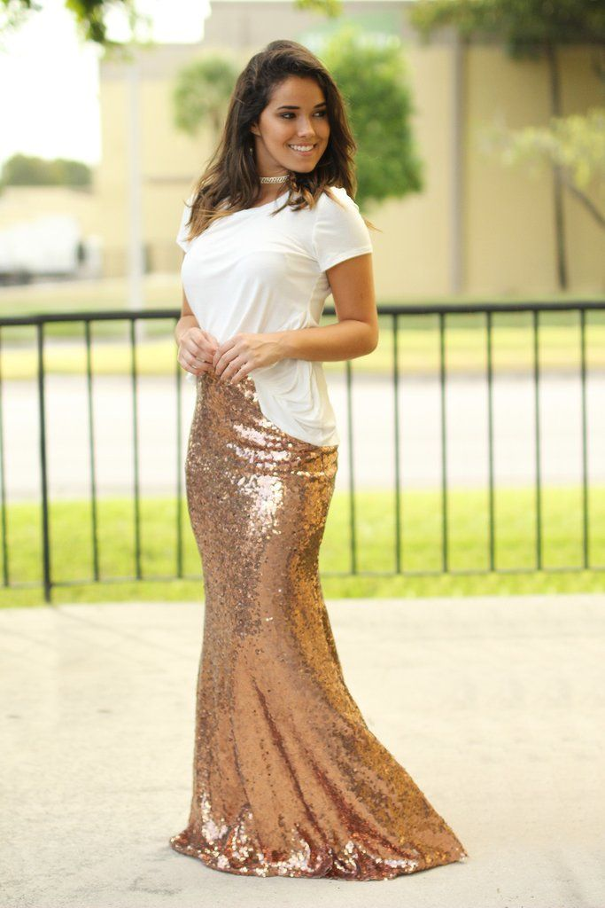 Best 25  Gold sequin skirt ideas on Pinterest | Gold skirt outfit ...