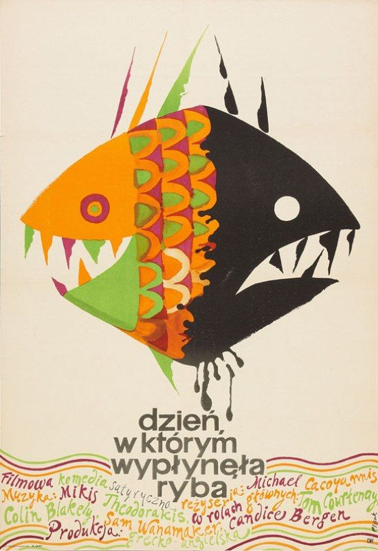 Polish Film Poster Picture Archive: The Day the Fish Came Out, 1967