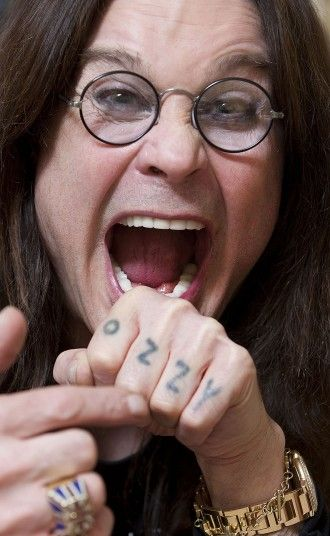 Ozzy Osbourne tattoo knuckles