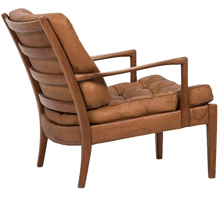 Arne Norell Easy Chair In Tufted Buffalo Leather By Norell AB In Sweden.  Easy ChairsModern ...