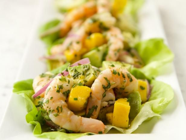 Get Shrimp Mango Lettuce Cups Recipe from Food Network