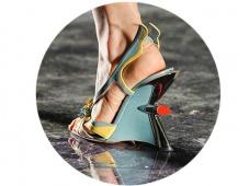 Fantastic PRADA shoes in the spirit of the 50s on the fashion show SS2012. Фантастическая обувь на показе PRADA сезона SS2012 в духе 50-х годов 20-ого века.