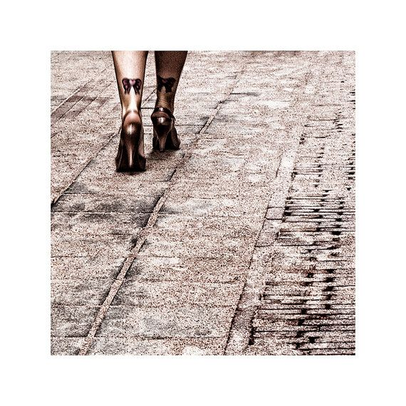Street photography / tattoos and heels / fine art photography / wall art print / 'Morning Butterflies'