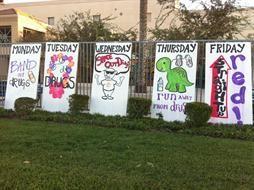 Spirit week signs. I like that idea