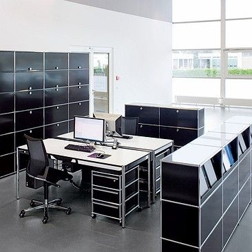 modern office furniture by usm includes a range of usm haller and kitos tables modular storage furniture shelves and desks for every office
