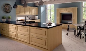 Bella Beech Kitchen - By BA Components. Trade kitchen door manufacturers and replacement door manufacturers.