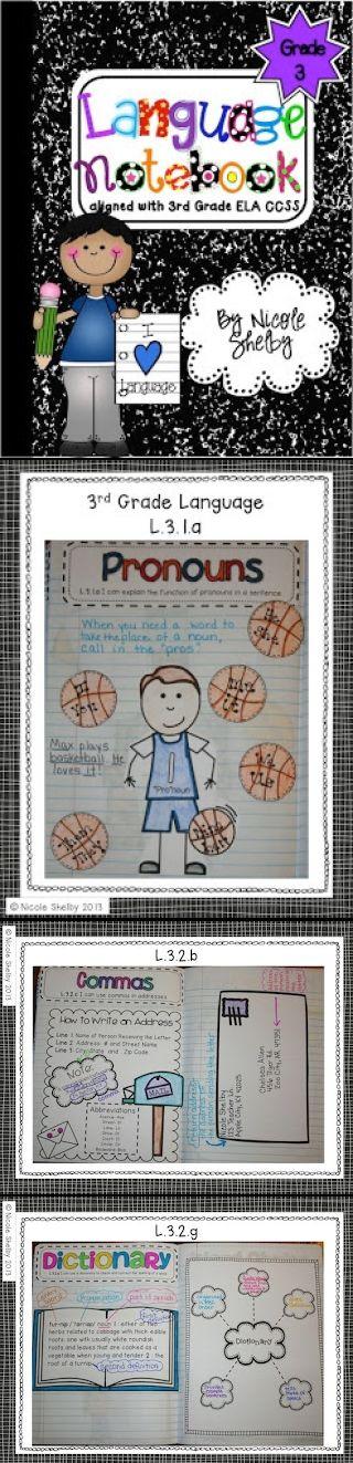 Third Grade Interactive Notebook for ELA.