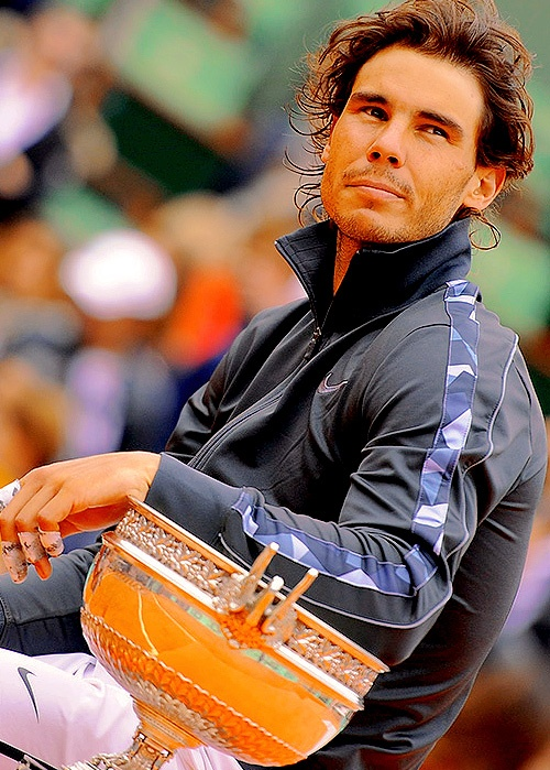 Rafa.  Oh, this?  Just another RG trophy.