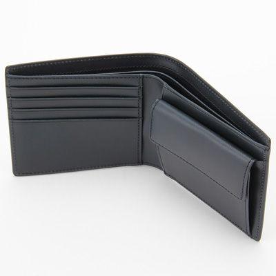 イタリア産ヌメ革二つ折り財布 黒 | 無印良品ネットストア