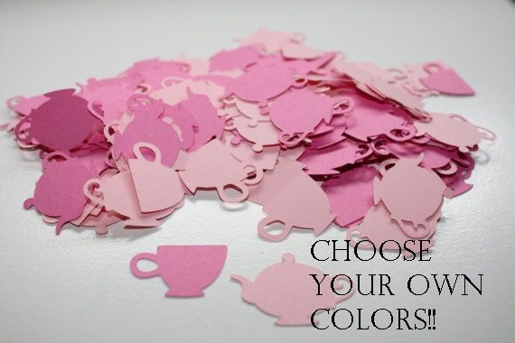 Choose your Colors 200 pieces Tea Party Die Cut Table