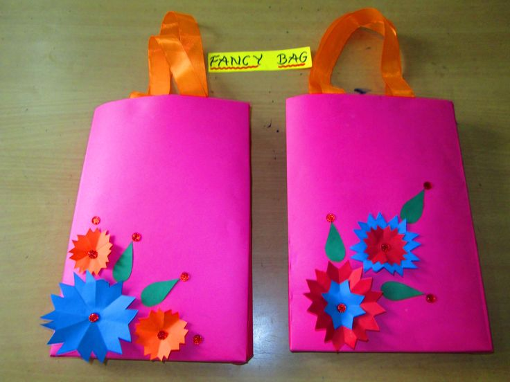 colourful paper bags by students of primary section #colourful#beautiful#attractive #students #parents#creativity#art#paper work#enjoyment#fun#loving#pink  #bags#