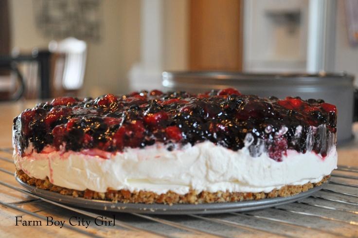 Raspberry Pretzel Dessert | Farm Boy City Girl