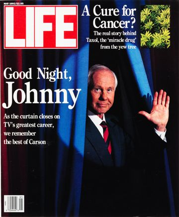 LIFE Magazine May 1992 - Good Night Johnny Carson
