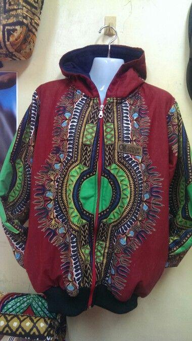 Maroon dashiki hoodie