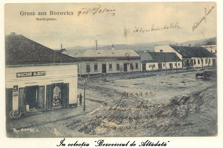 "A circulat acum 106 ani, in 1908, cu o caligrafie minunata pe verso. Azi, piata arata complet diferit (am si o banuiala cam pe unde e facuta poza) si o sa fac si niste poze comparative ""atunci si acum"". #descoperabozovici (Bozovici. old postcards. vintage postcards)"