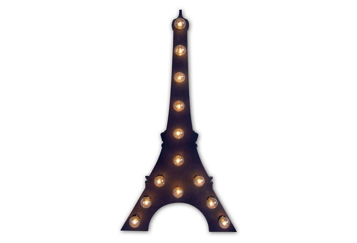 """38"""" Marquee Light-Up Eiffel Tower, Black 