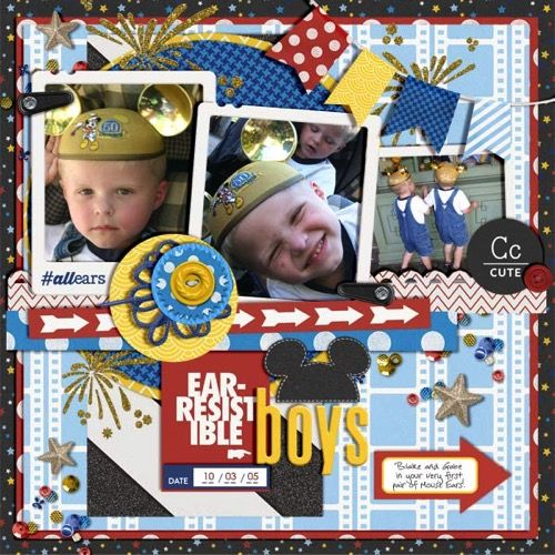 Magic Memories Collection for your Disney Scrapbook | page by @missys23
