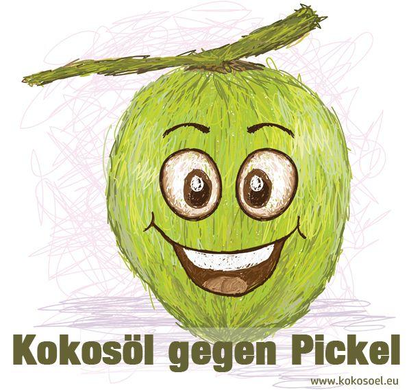 Kokosöl gegen Pickel und Akne