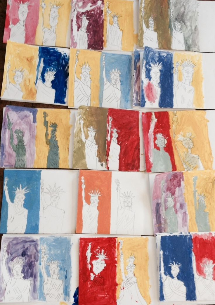 Flamstead School have been working art on their Warhol art project!