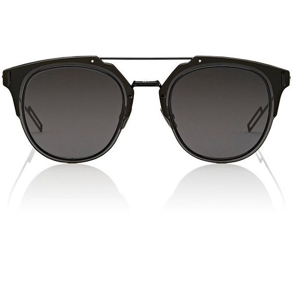 "Dior Homme ""Dior Composit 1.0"" Sunglasses (10,330 MXN) ❤ liked on Polyvore featuring men's fashion, men's accessories, men's eyewear, men's sunglasses, black, mens rectangular sunglasses, mens rectangle sunglasses and mens round sunglasses"