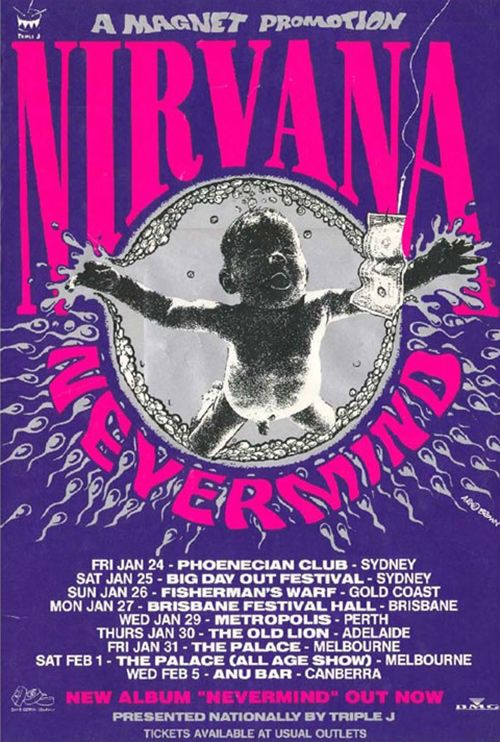 20 Awesome Gig Poster Designs | Nirvana concert poster ...