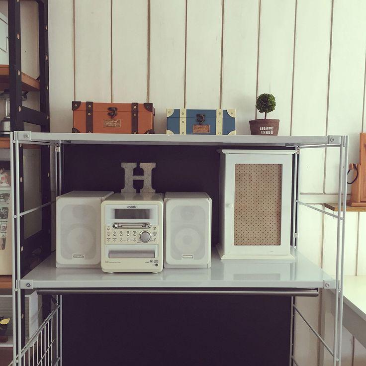無印良品/板壁DIY/ユニットシェルフ/CD収納/棚のインテリア実例 - 2016-04-12 10:58:57 | RoomClip(ルームクリップ)