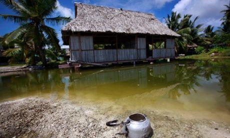 Kiribait Islanders refused refugee status by New Zealand.