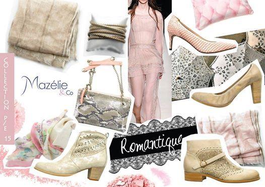 Un look romantique avec les chaussures et accessoires Mazélie & Co !