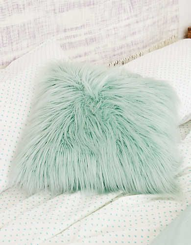 Dormify Faux Lamb Fur Pillow , Teal | Aerie for American Eagle