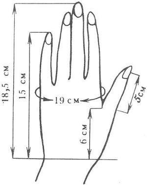 Как правильно снять мерки кисти рук для варежек, перчаток