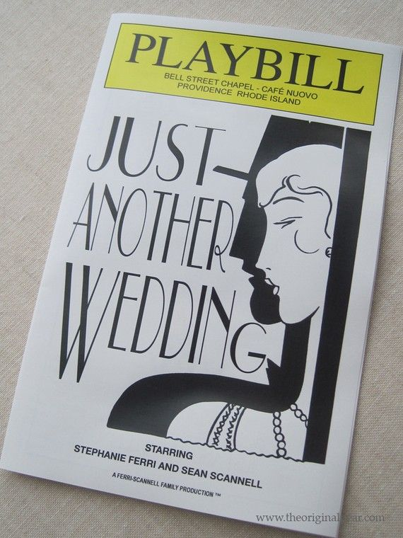 30 best images about wedding playbills on pinterest