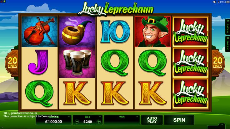 Big wins wait at the end of the rainbow in the lush meadows of Ireland! #Play Lucky Leprechaun slots with a sign up bonus of £5 at Vegas Paradise