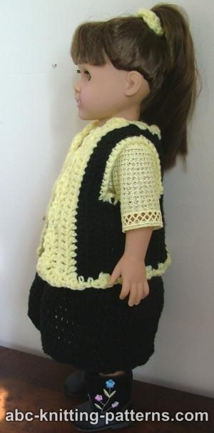 American Girl Doll Vest: Knitting Patterns, Knits Patterns, Dolls Patterns