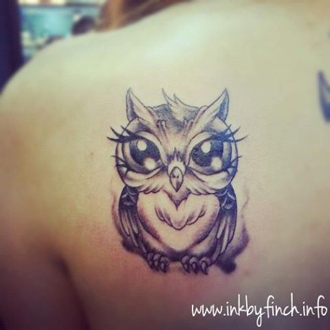 Cute owl : )  Needs color and a branch and flowers