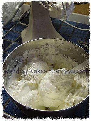 bowl of buttercream frsoting
